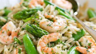 Primavera Pasta Salad with Shrimp