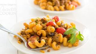 Taco Pasta Salad: the perfect taco flavored side dish for any gathering!