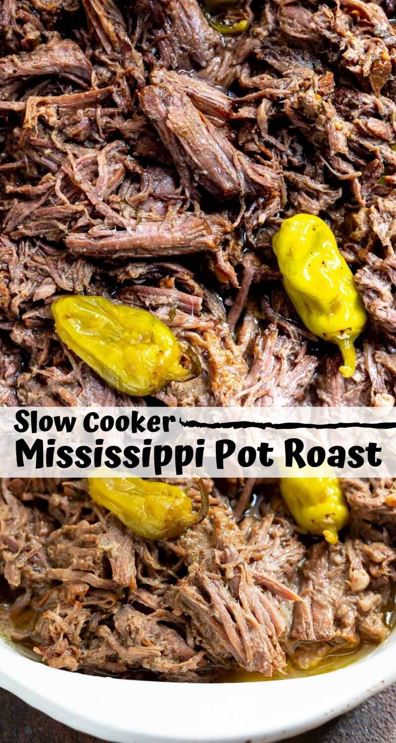 slow cooker mississippi roast recipe photo collage
