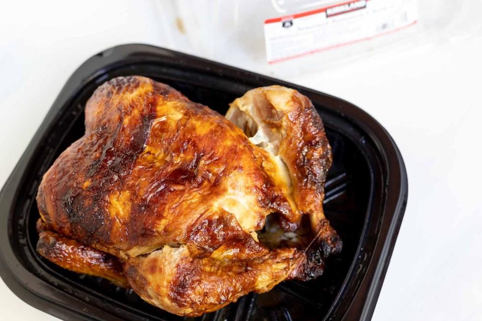 store bought rotisserie chicken