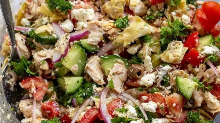 Mediterranean Tuna Salad No Mayo Wonkywonderful