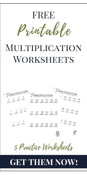 multiplication printable pin