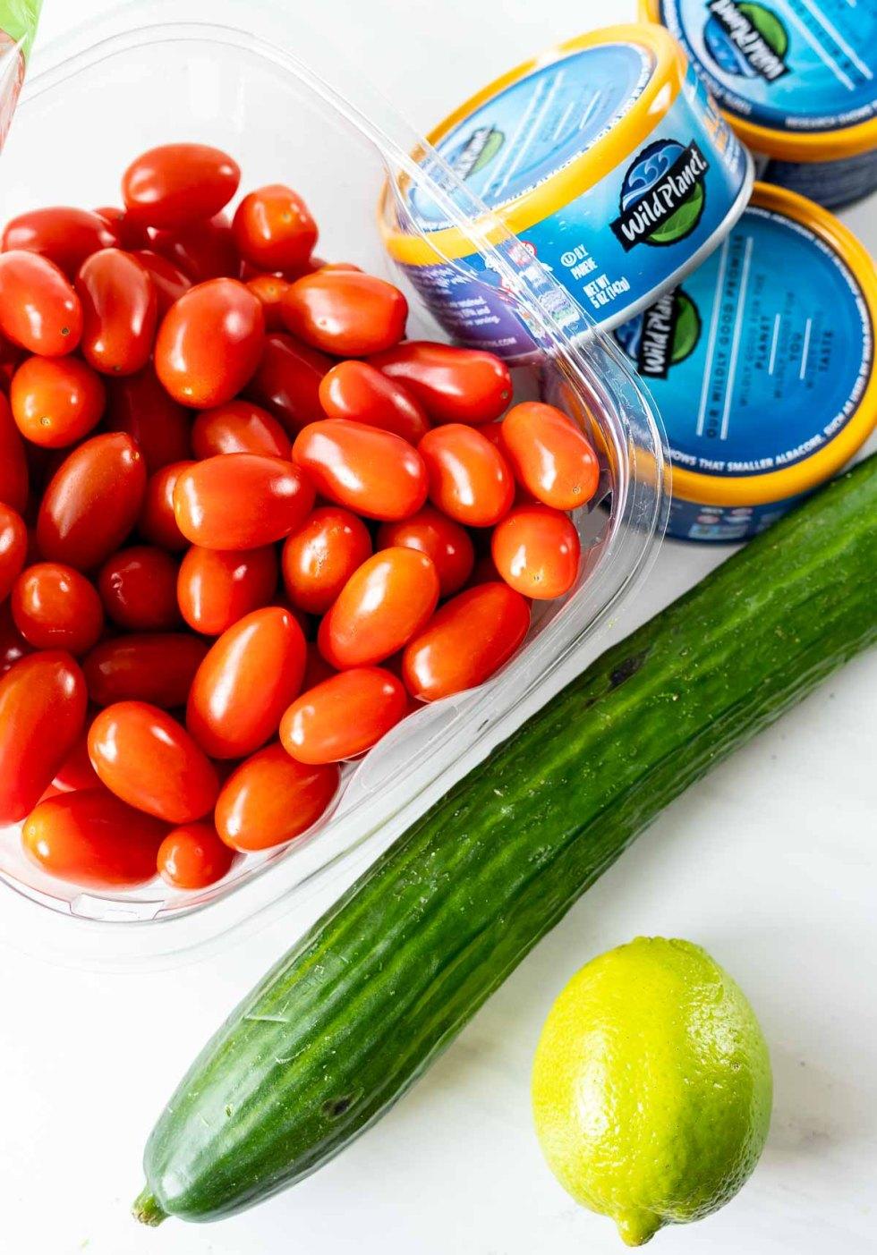 non prepped tuna salad ingredients