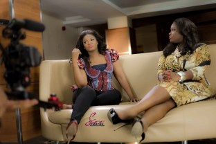 You have seen the interview, now enjoy the behind the scene pictures. The moments, the touch, the smiles… Every woman needs to be confident in herself because everything on this woman 'it's all good'. Isn't yours? Omotola and Toolz heart-2-heart talk on Ndani TV. Watch it here: http://ndani.tv/blog/the-juice-omotola-jalade-ekeinde/ MANDATORY CREDITS Omosexy in: Iconic Invanity Jacket. www.IconicInvanity.com Make-up by: Bimpe Onakoya Photos by: Daniel Sync/ Sync PHOTOS