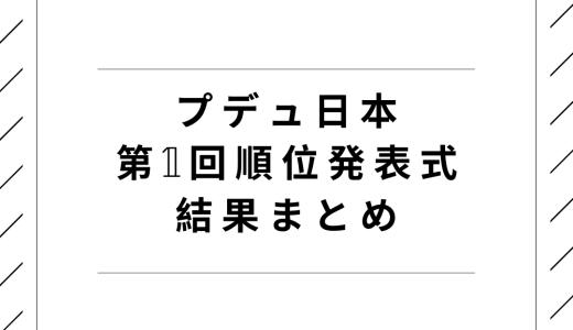 プデュ日本|第1回順位発表式の結果まとめ!脱落者と生存者は?
