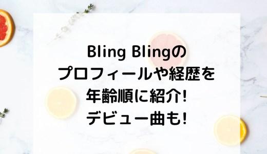Bling Blingのプロフィールや経歴を年齢順に紹介!デビュー曲も!