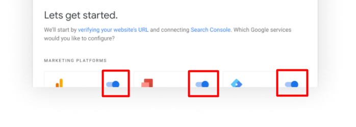 Google Site Kit Toggle within their WordPress Plugin