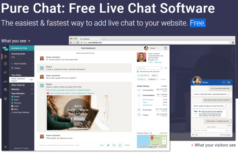 Live Chat for WordPress using Pure Chat
