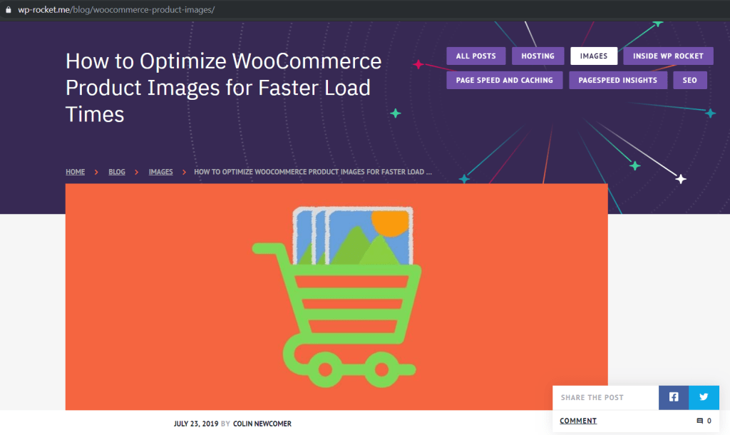 Fast Loading WooCommerce Images from WPRocket