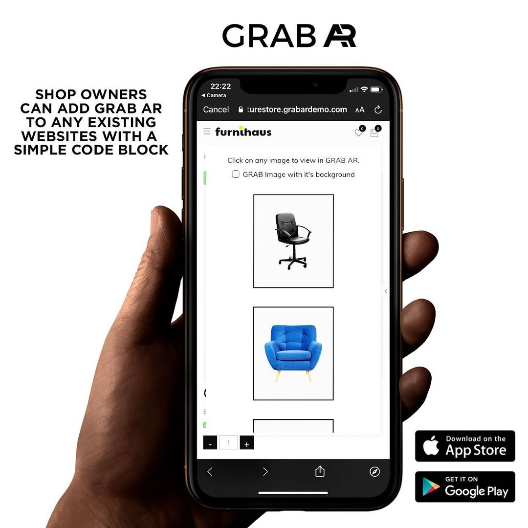 GrabAR Augmented Reality for WooCommerce