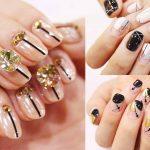 ♥ 凝膠指甲上的線條藝術!劃分指甲的創意