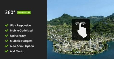 Flat 360° Panoramic Viewer - WordPress Plugin