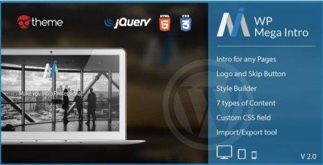 WP Mega Intro - Amazing Intro Pages for WP