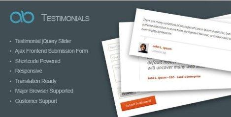 AB Testimonial WordPress Plugin