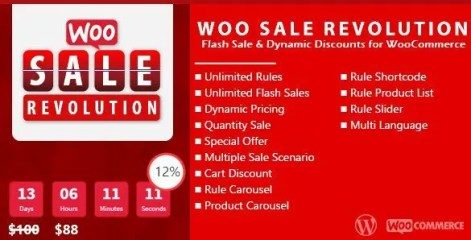 Woo Sale Revolution - Flash Sale Dynamic Discounts