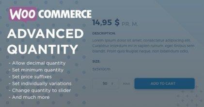WooCommerce Advanced Quantity