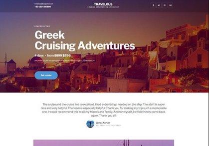 Elementorism Travelous Landing Page