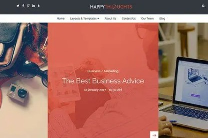 CyberChimps Happy Thoughts WordPress Theme