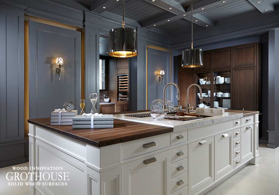 Mixing Kitchen Countertop Materials Grothouse Solid Wood Surfaces