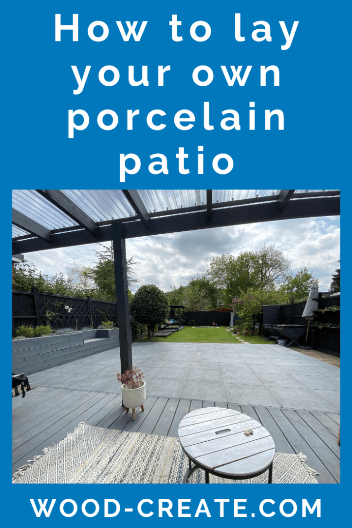 How to lay your own porcelain patio