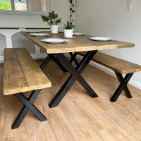 How to make an industrial rustic scaffold board dining table and bench
