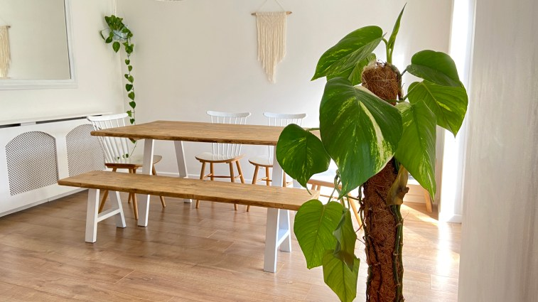 wide dining table white