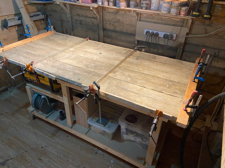 clamped boards