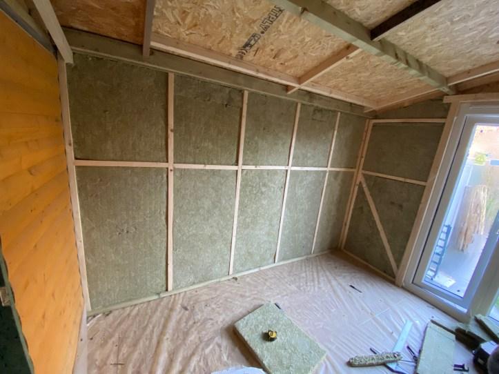 garden office build insulation