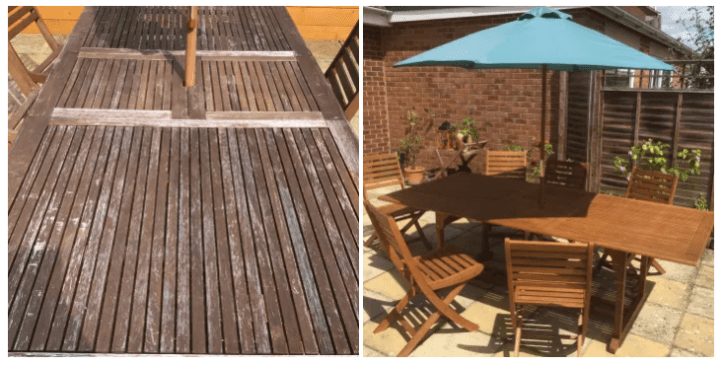 how to restore weathered garden furniture
