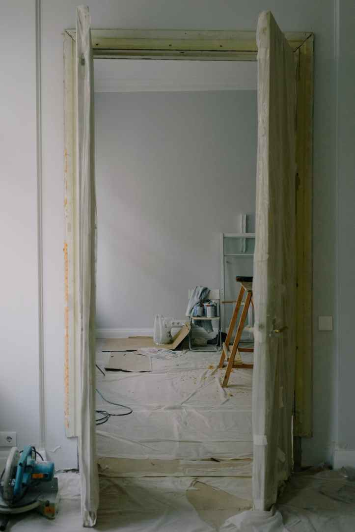 new apartment interior during renovation process in daylight