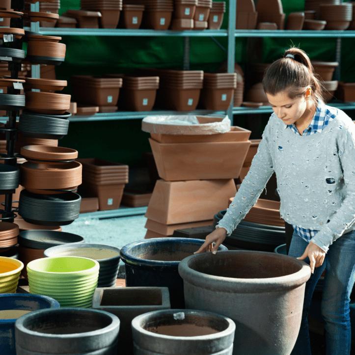 plant pots sizes