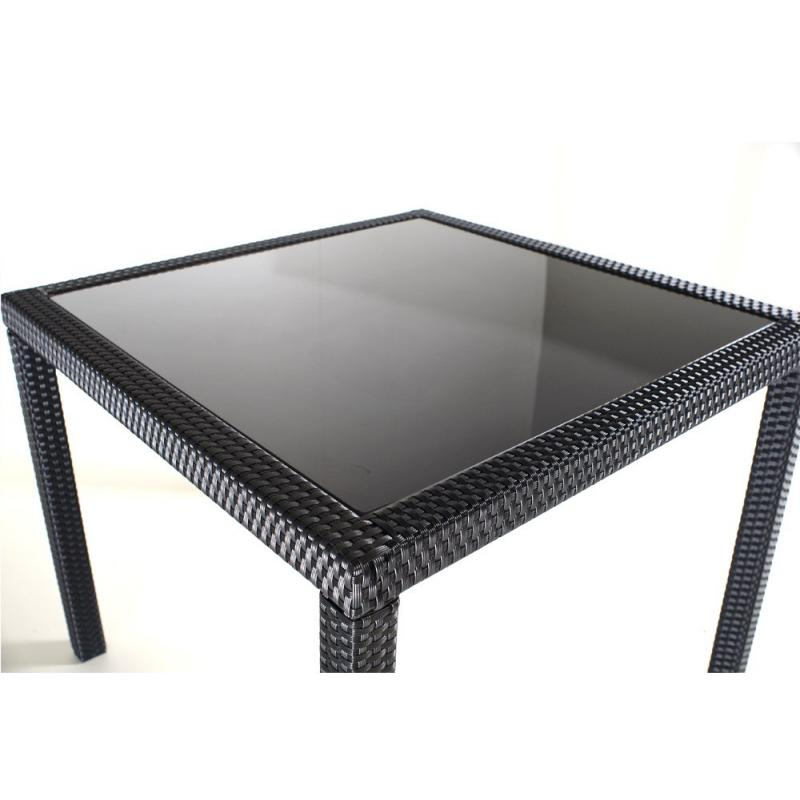 finest table en rsine tresse et plateau en verre tremp with plateau en resine
