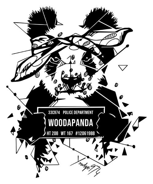 dessin panda moderne