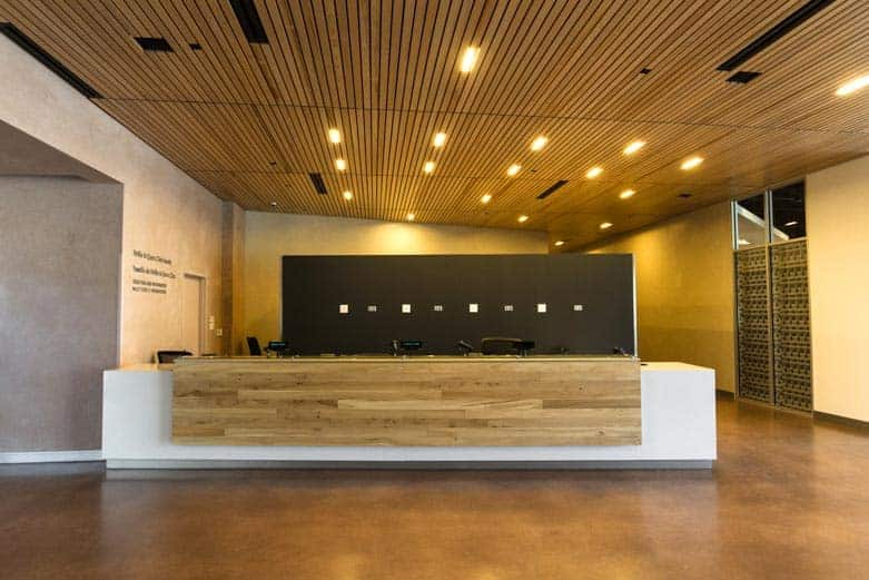 Public Entrance Reception Desk Wood Anchor