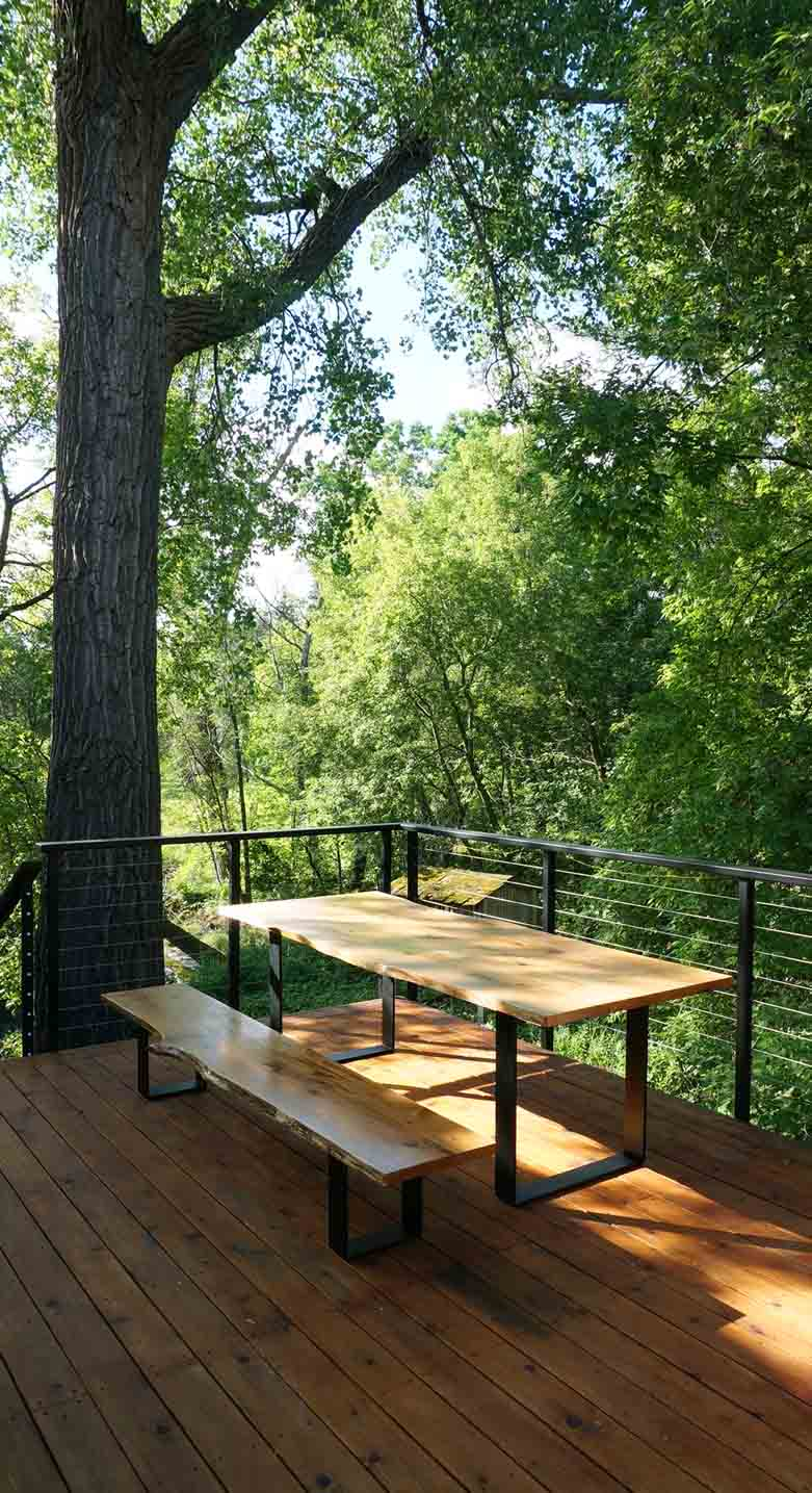 Custom Wood Deck Railing
