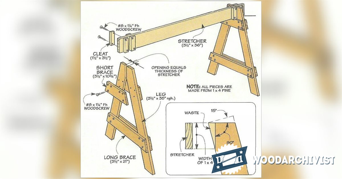 Knock Down Sawhorses Woodarchivist