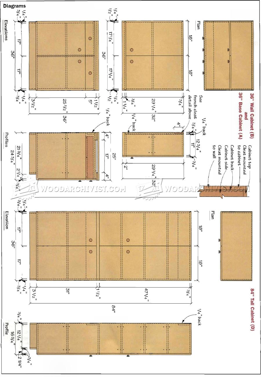 Workshop Cabinets Plans Woodarchivist