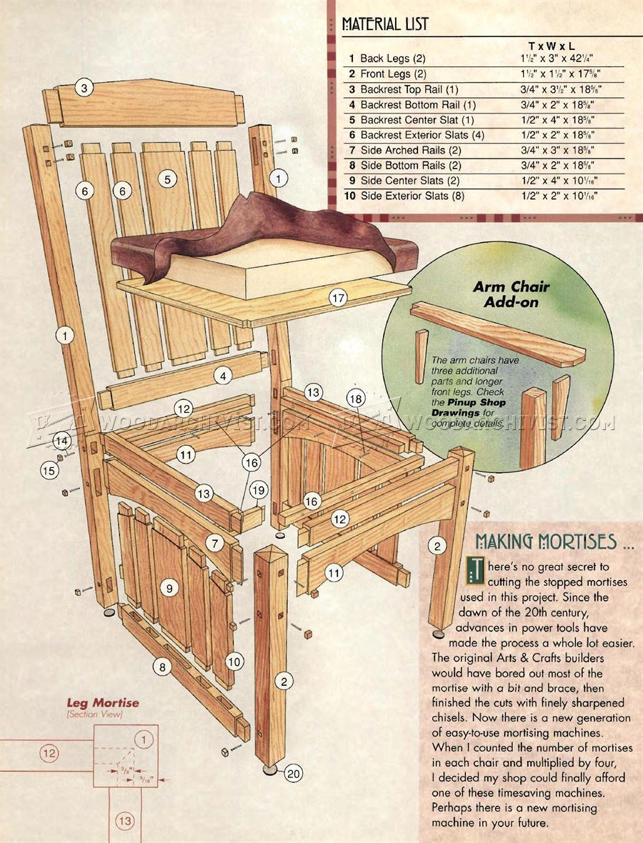 Dining Room Chairs Plans WoodArchivist