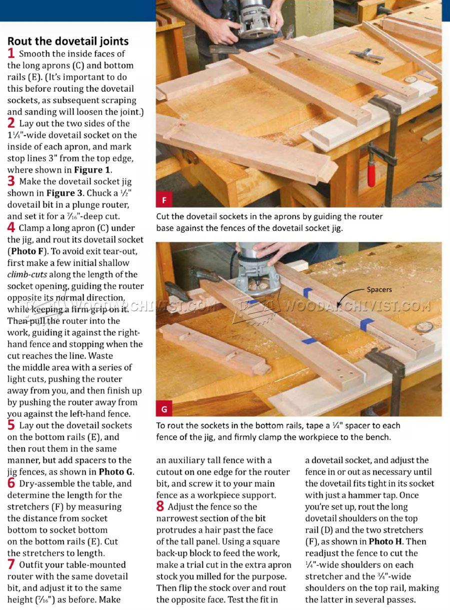 Display Table Plans WoodArchivist