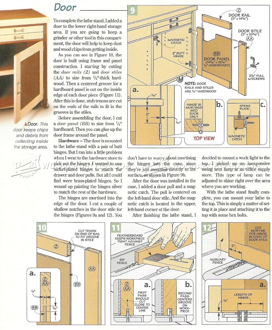 Mini Lathe Stand Plans Woodarchivist