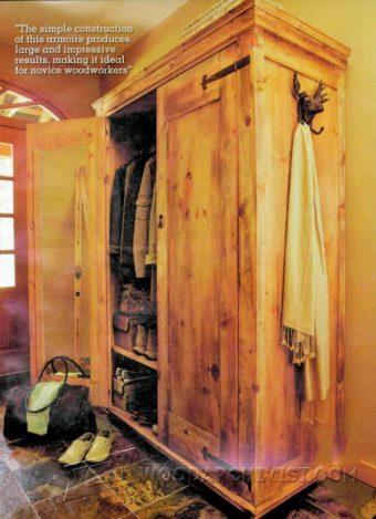 rustic armoire plans