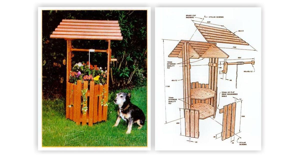 Wishing Well Planter Plans WoodArchivist