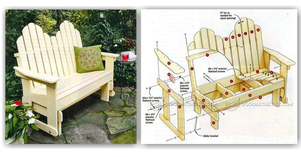 Adirondack Glider Bench Plans Woodarchivist