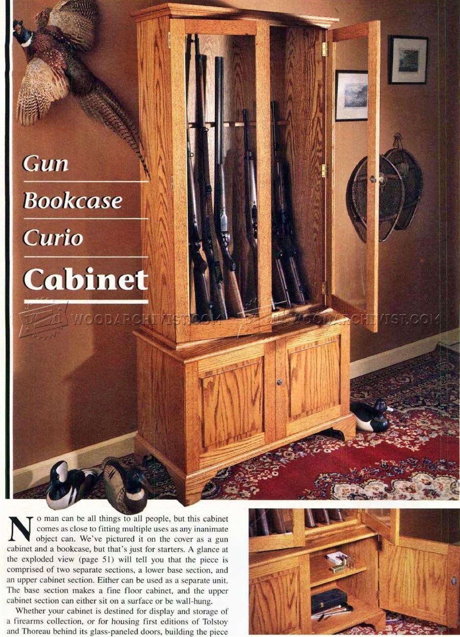 Gun Cabinet Plans WoodArchivist