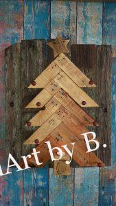 Weihnachtsbaum aus Altholz