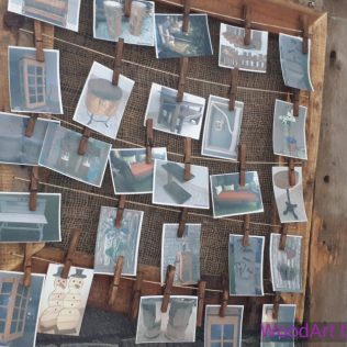 Fotorahmen aus Altholz Dekoration