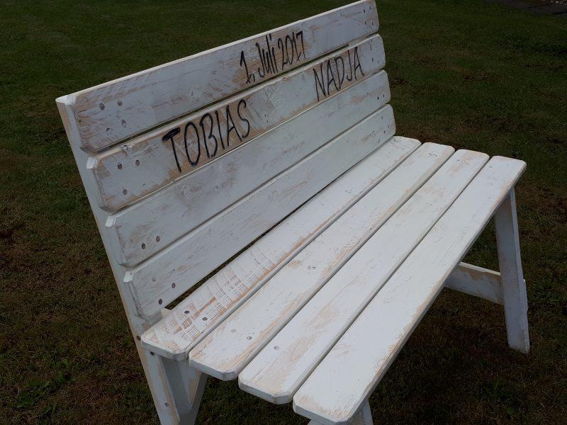 Seitenansicht Gartenbank Sitzmöbel