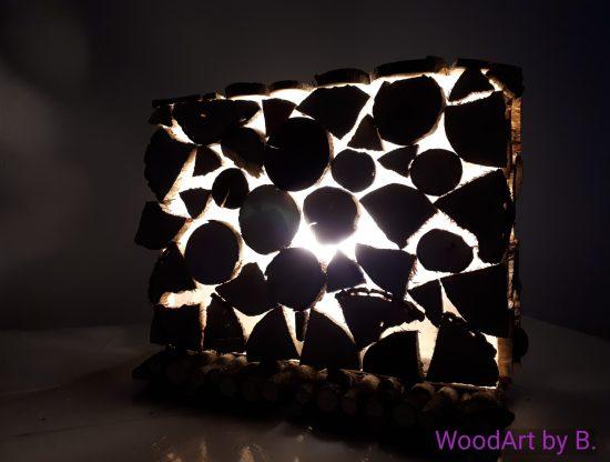 Tischleuchte Querformat Decken- Leuchte by WoodArt