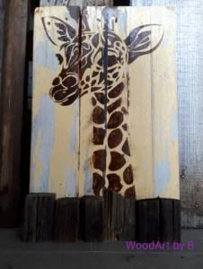 Wanddeko Giraffe