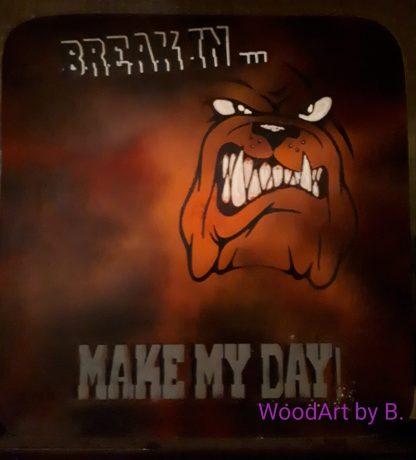 Wanddeko-Break in- Airbrush by WoodArt